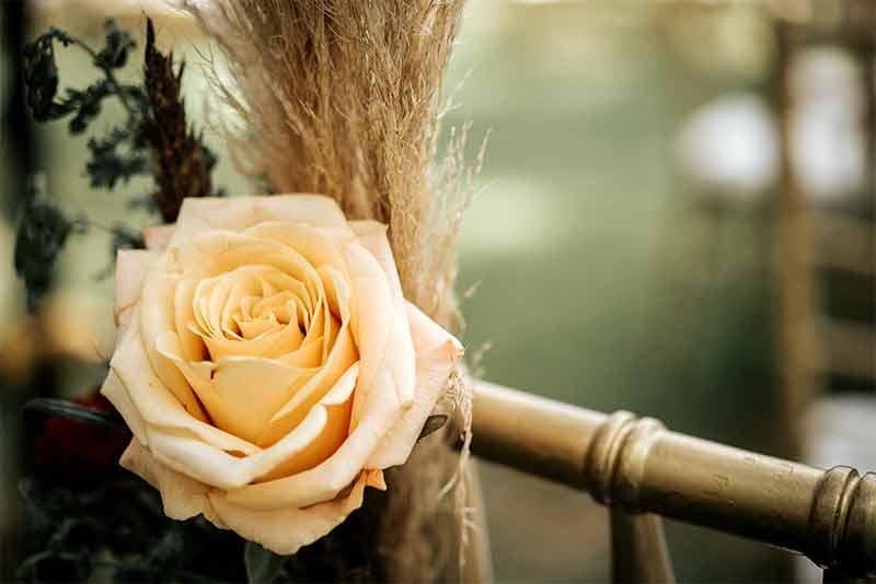 flores amarillas boda