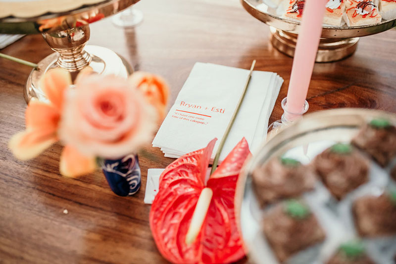 decoraciones para boda en color naranja