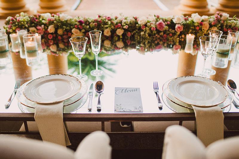 menu para boda