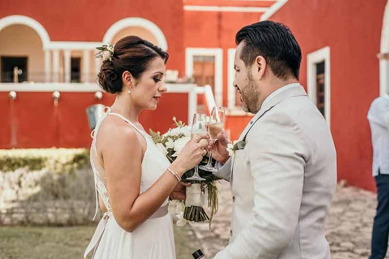 brindis en boda hacienda