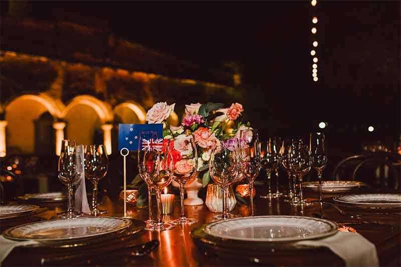 centro de mesa para boda en yucatan