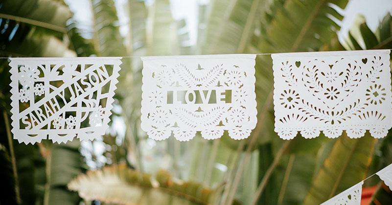 papel picado para boda