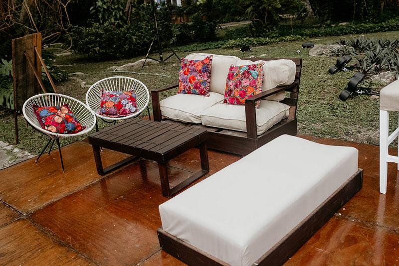 mobiliario para boda estilo mexico