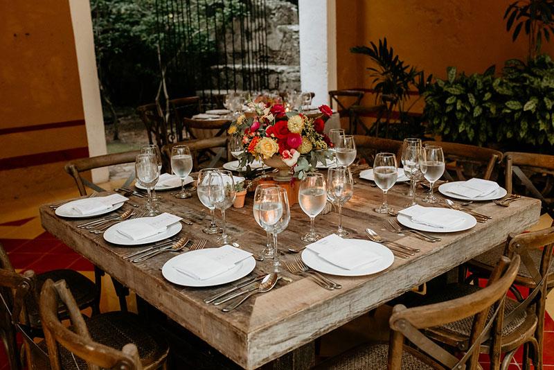 tablaware para boda estilo mexico