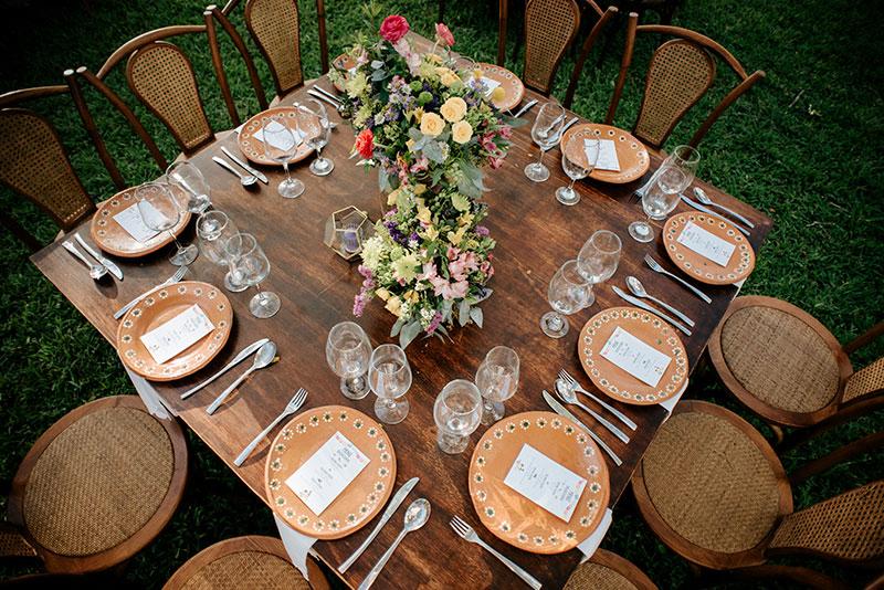 mesa para boda mexicana