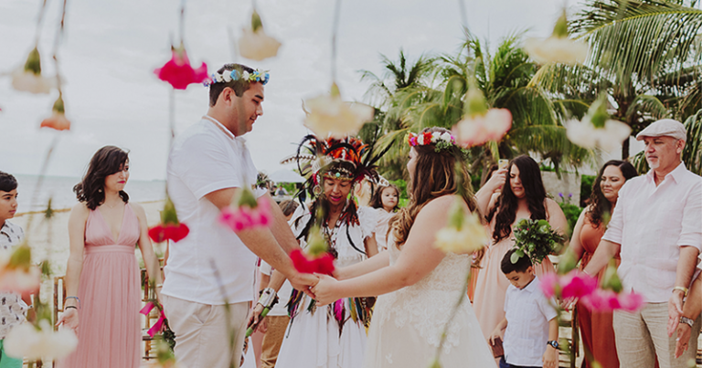 Ceremony at Villa Grace, Cozumel 🐢 Érica & Álvaro
