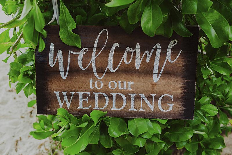 señalamientos para boda en playa
