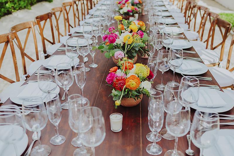 mesa para boda en playa