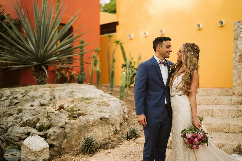 destination wedding in hacienda