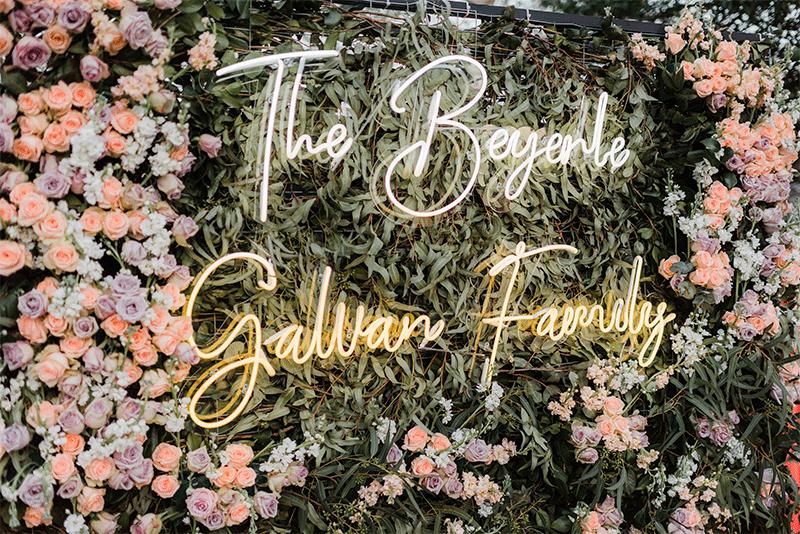 pared floral boda
