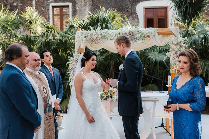 intercambio de anillos ceremonia