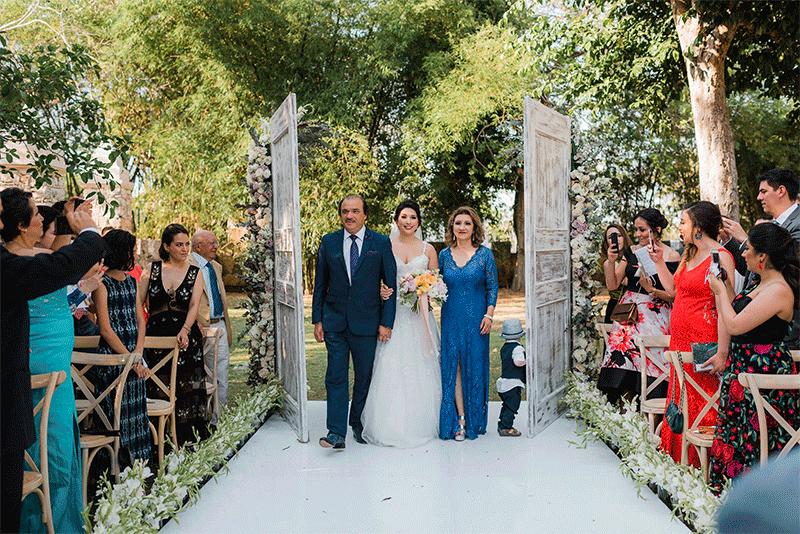 entrada de novia ceremonia boda