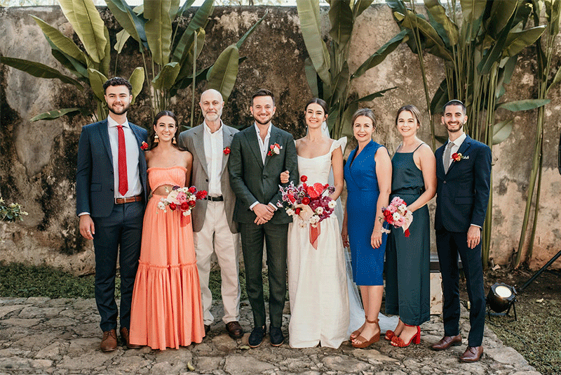 ceremony wedding in hacienda