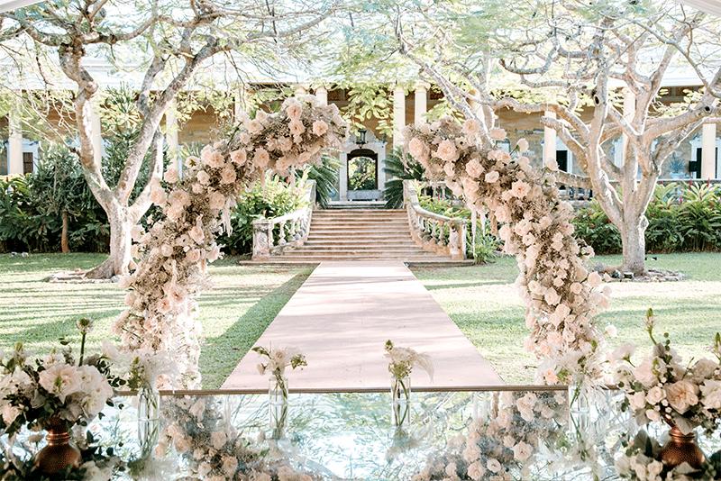 arco para flores boda