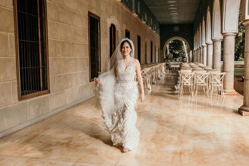 La novia al ver el altar