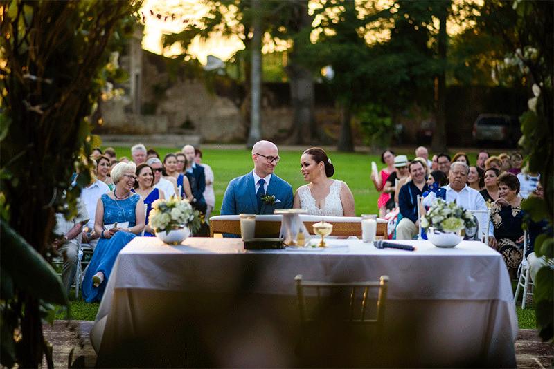 Ceremonia al aire libre en Hacienda