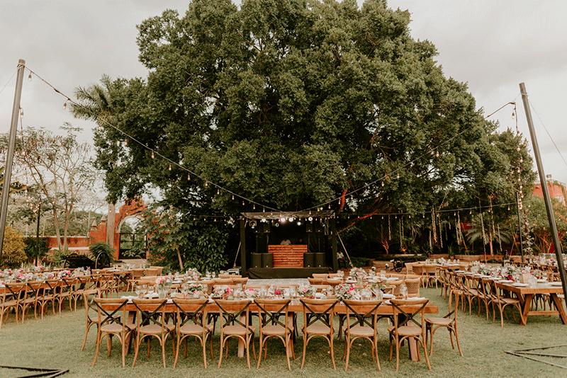 mobiliario para boda yucatan hacienda