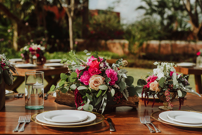 centros de mesa para boda en hacienda