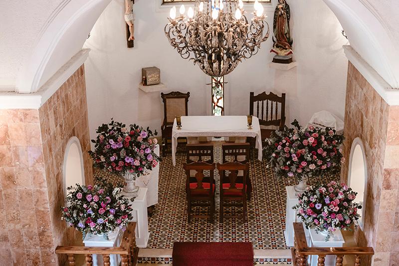 Religious wedding at hacienda Sotuta de Peón