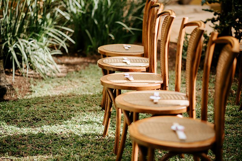 Decoración en boda al aire libre