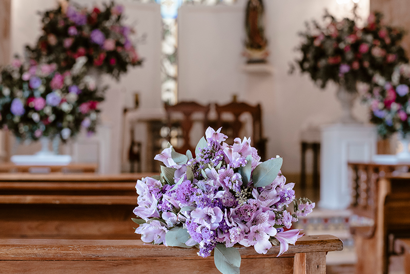 Flowers decoration at wedding in Yucatán