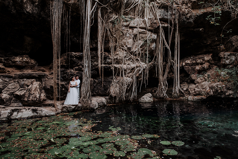 Boda destino en cenote