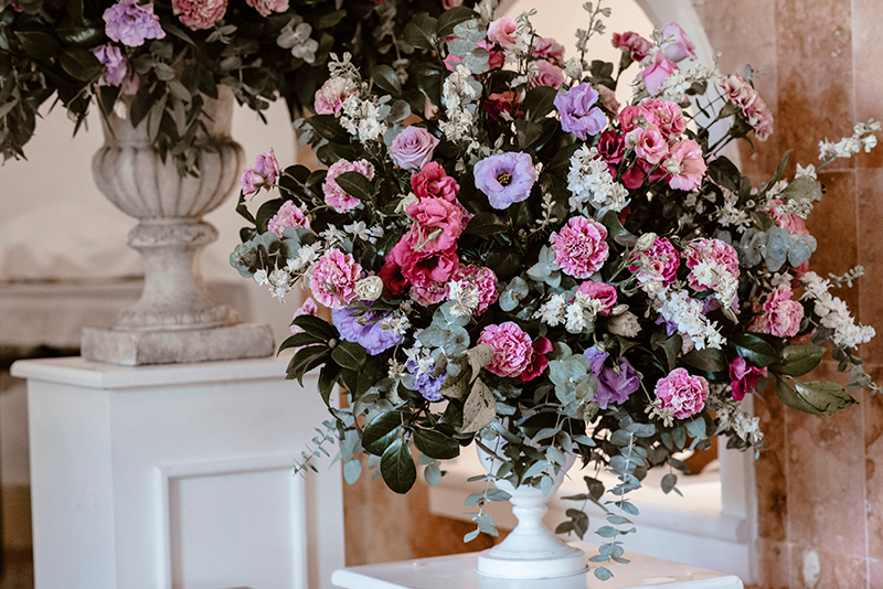 Purple and pink decoration