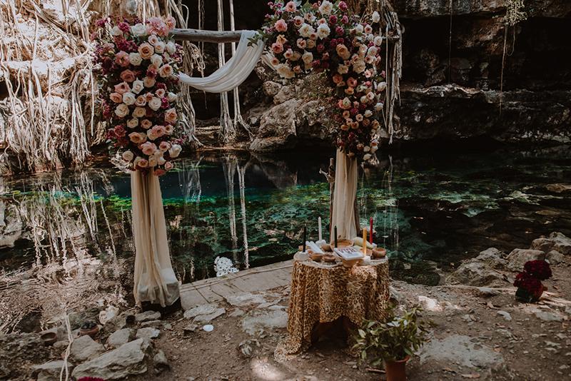 wedding at cenote