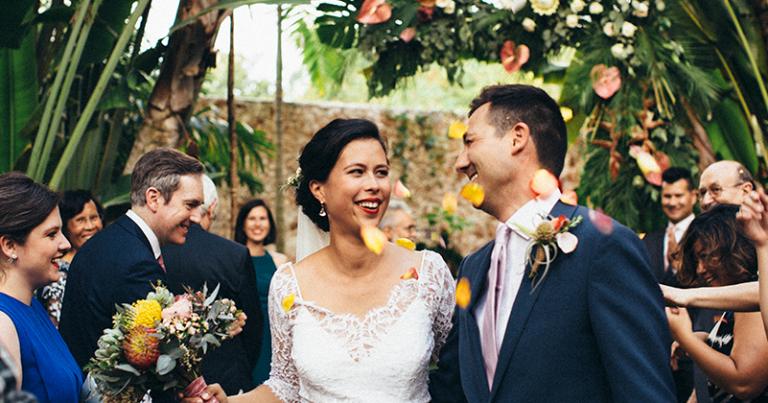 Ceremony at Hacienda Sac Chich 🏵️💛 Sarah & Jason