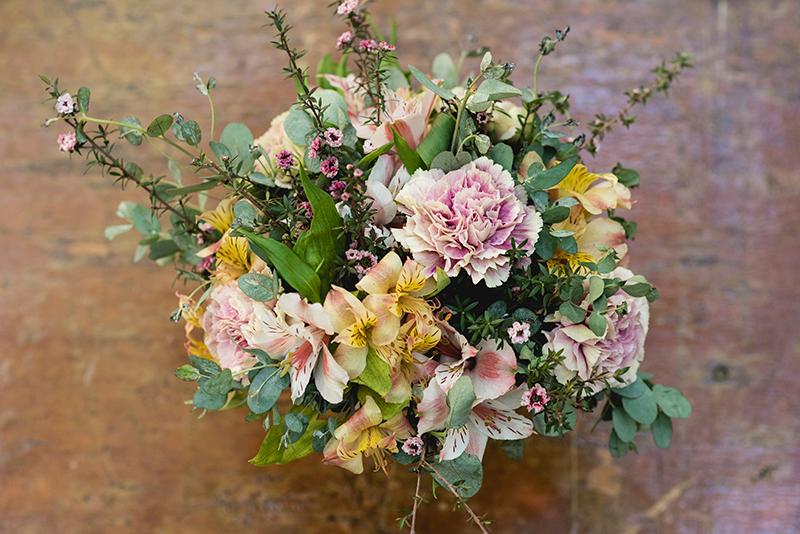 Bouquet de flores en Cenote