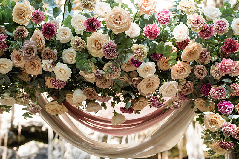 Flores para boda en cenote