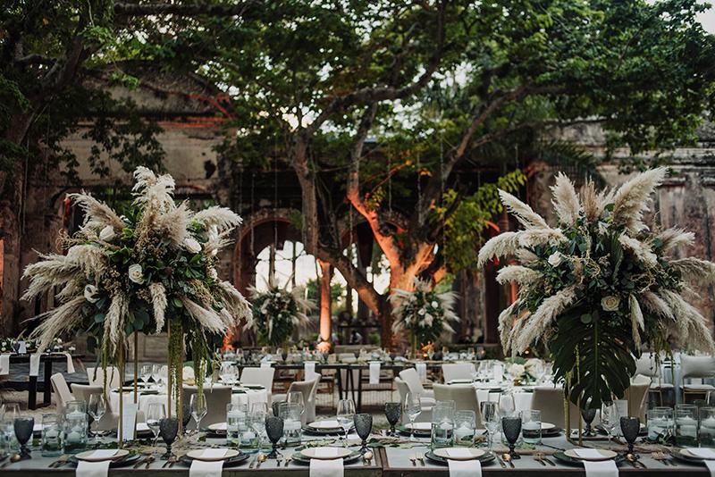 Decoración para boda en hacienda Chichi Suarez