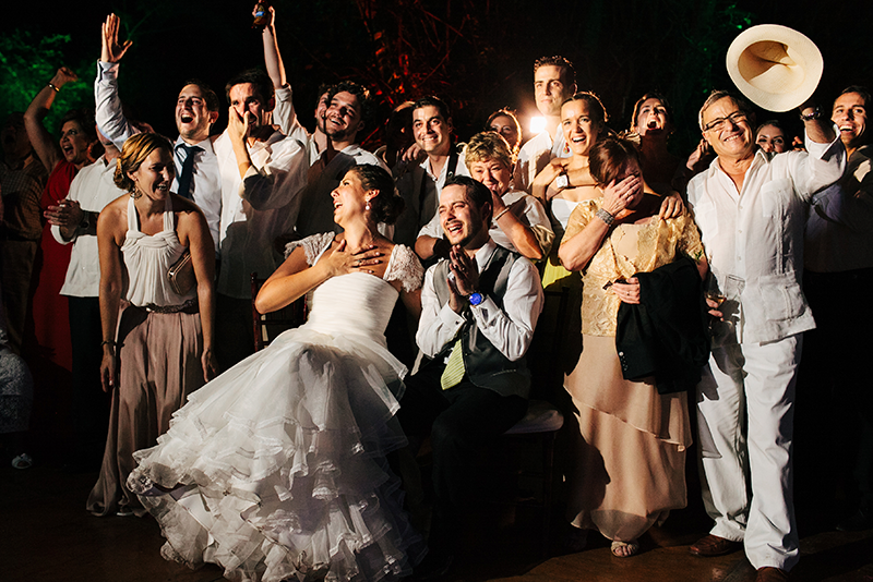 Party after the wedding in Yucatán
