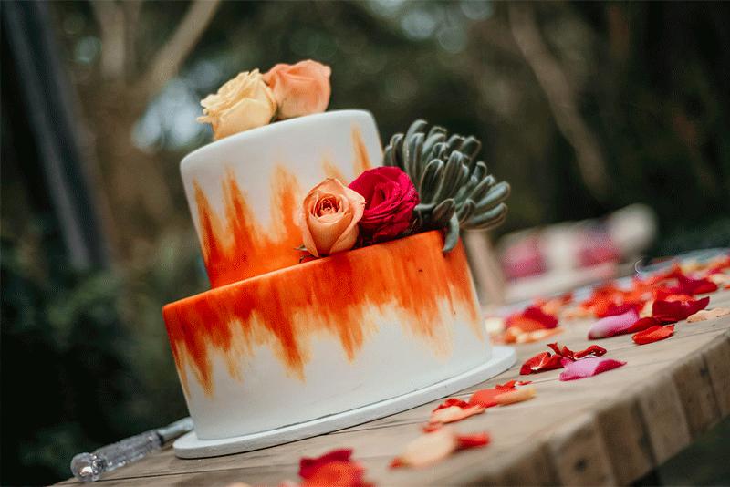 wedding cake in yucatan